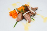 kid fillet with sauteed carrots