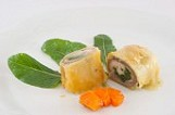sea bream fillet wrapped in dough