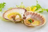 scallops with Trieste sauce